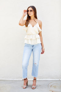 Juliette Ruffle Sleeveless Blouse