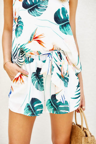Delilah Tropical Print Shorts