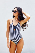Load image into Gallery viewer, Santana Striped One Piece Swimsuit