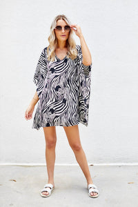 fab'rik - PreOrder Milly Zebra Swim Cover Up ProductImage-7977085665338