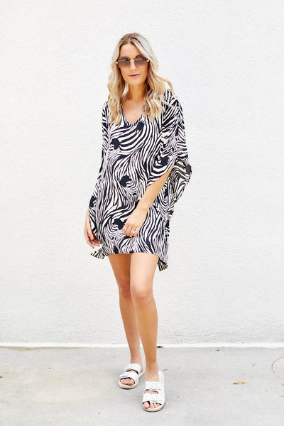 fab'rik - Milly Zebra Swim Cover Up image thumbnail