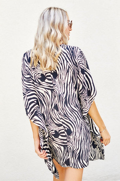 fab'rik - PreOrder Milly Zebra Swim Cover Up image thumbnail