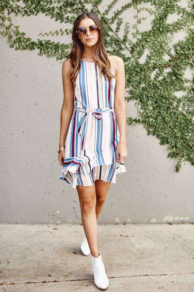 fab'rik - Zadie Stripe Mini Dress image thumbnail