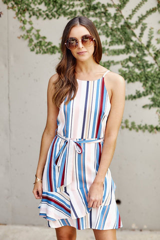 Zadie Stripe Mini Dress