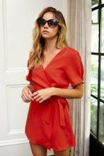 Load image into Gallery viewer, SALE - Lenna Puff Sleeve Wrap Romper