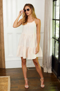 Kennedy Tie Back Tiered Mini Dress