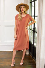 Load image into Gallery viewer, SALE - Sadie Curved Hem Knit Midi Dress