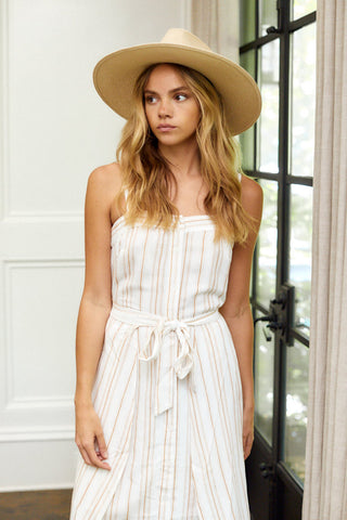 Annie Stripe Wrap Dress
