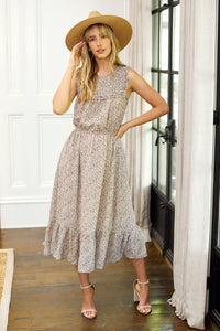 Gwen Smocked Tiered Midi Dress
