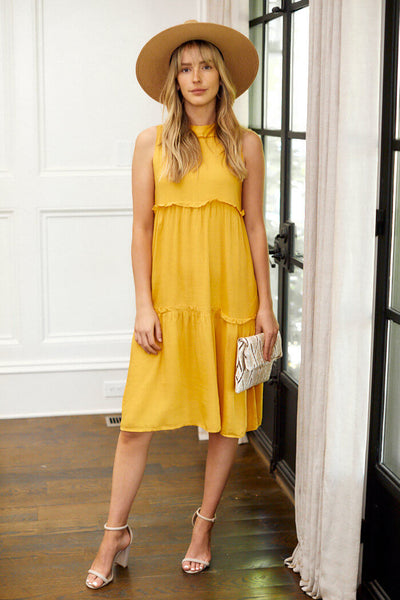 fab'rik - Collins Tiered Midi Dress image thumbnail