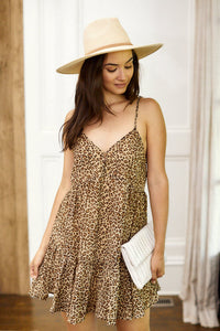 Harper Sleeveless Leopard Mini Dress