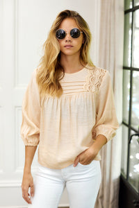 fab'rik - Remi Lace Detail Puff Sleeve Blouse ProductImage-13962282532922
