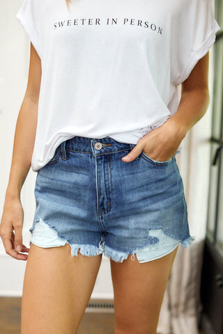 Cassia Distressed Cutoff Shorts
