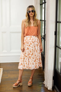 Joelle Pleated Floral Skirt