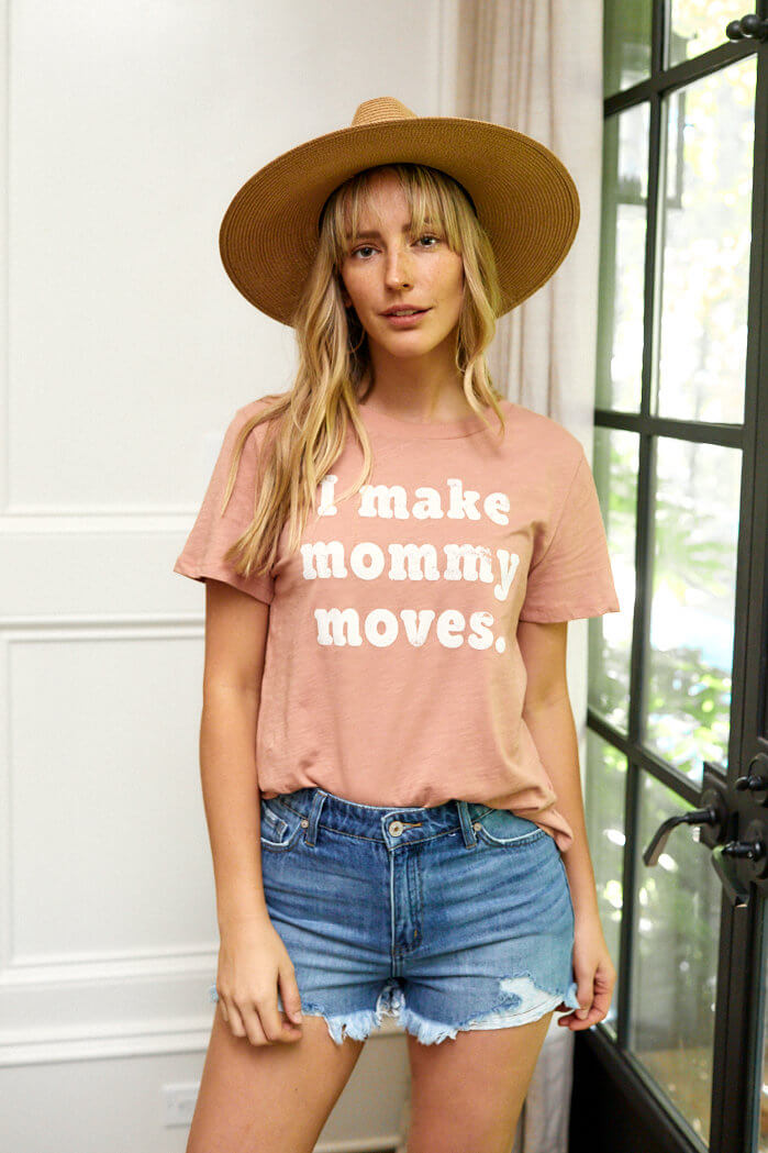 fab'rik - I Make Mommy Moves Graphic Tee ProductImage-13868149604410