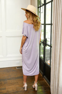 SALE - Sadie Curved Hem Knit Midi Dress