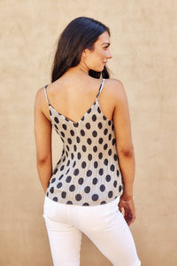 Quinn Polka Dot Pleated Cami