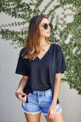 Z Supply Airy Slub Slouchy Tee