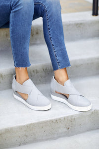 Melody Cut Out Sneaker Wedge