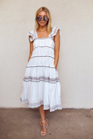 PreOrder Moxy Short Sleeve Tiered Midi Dress