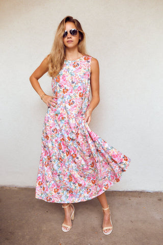 Harley Floral Print Sleeveless Maxi Dress