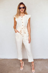 fab'rik - Myrtle Button Down Cropped Jumpsuit ProductImage-13940559020090