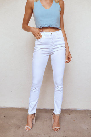 The Shore High Rise Skinny Cigarette Jeans