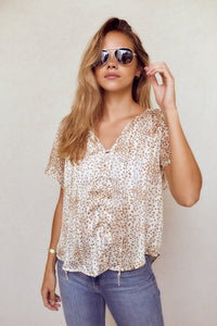 SALE - Charleigh Short Sleeve Blouse