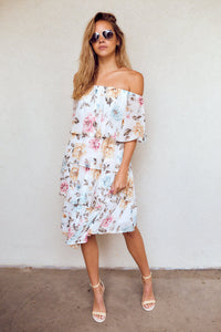 PreOrder Eliza Tiered Floral Midi Dress
