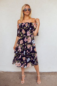 fab'rik - Eliza Tiered Floral Midi Dress ProductImage-13937216618554