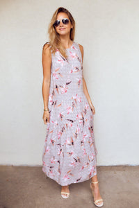 PreOrder Harley Floral Print Sleeveless Maxi Dress