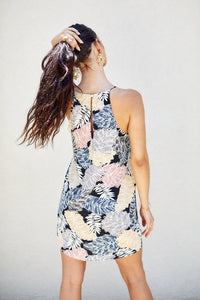 SALE - Della Tropical Print Mini Dress
