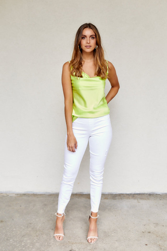 Spanx White Distressed Skinny Jeans