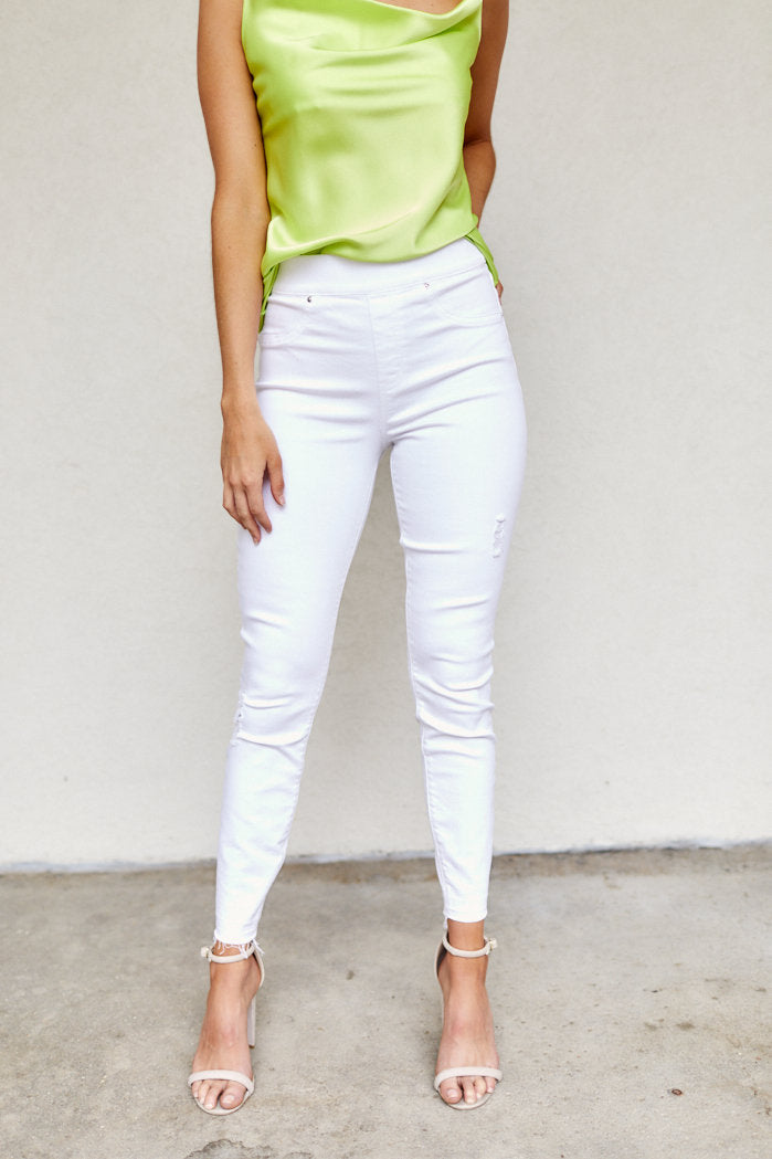 fab'rik - Spanx White Distressed Skinny Jeans ProductImage-8111290089530