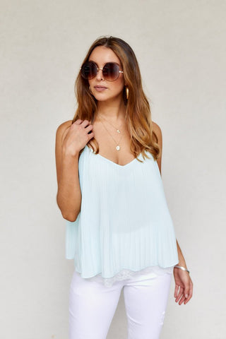 PreOrder Cleo Pleated Tank