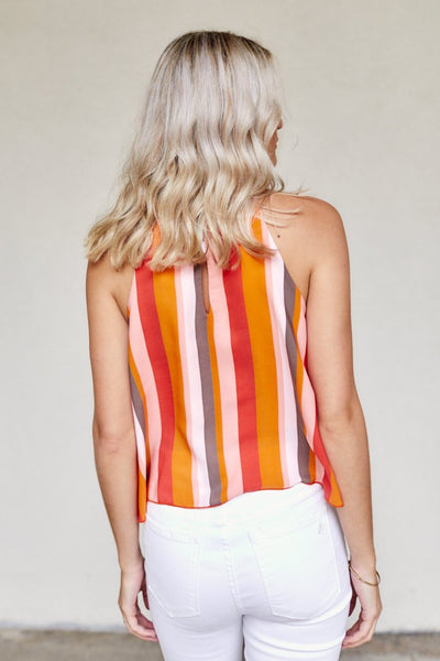 fab'rik - Stevie Stripe High Neck Tank image thumbnail