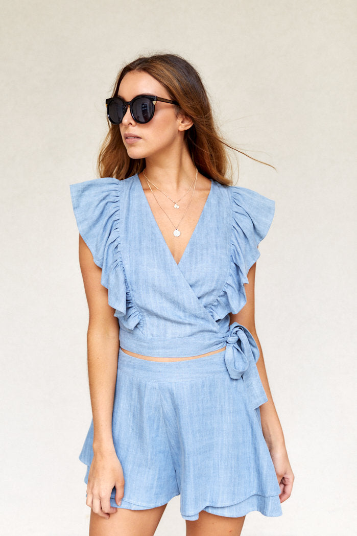 fab'rik - Lucia Chambray Shorts ProductImage-8111251259450