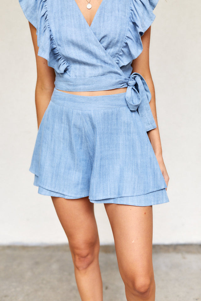 PreOrder Lucia Chambray Shorts