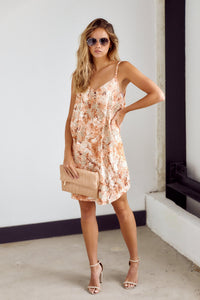 Reese Sleeveless Printed Slip Dress