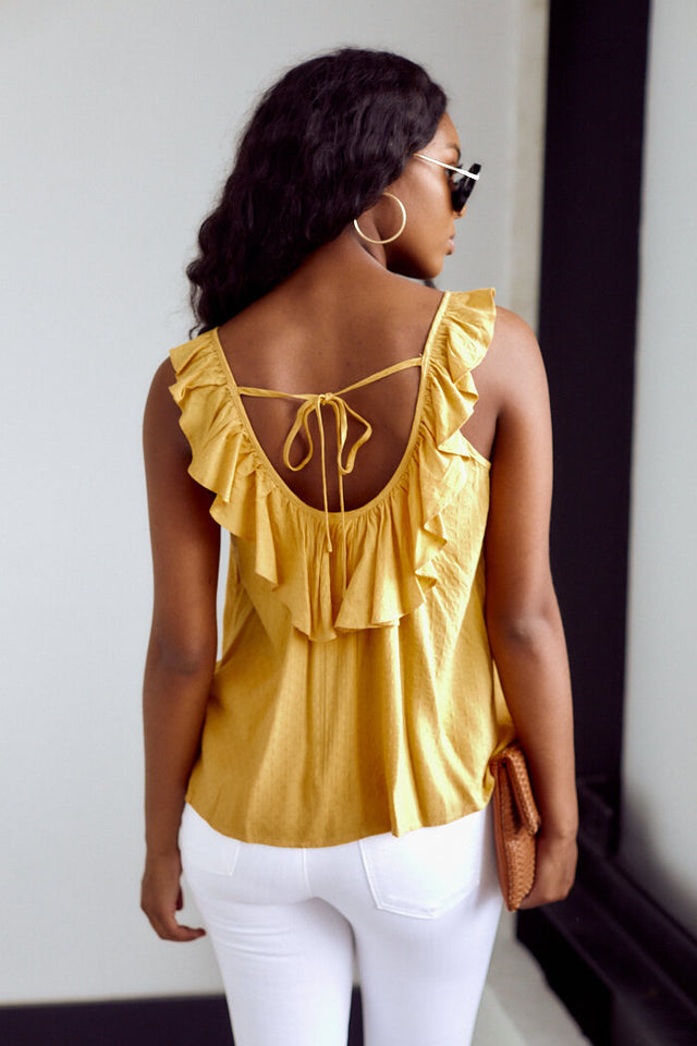 PreOrder Lane Tie Back Blouse