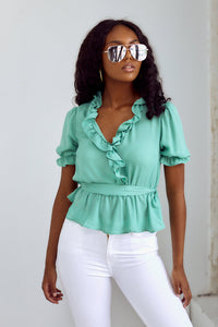 Evelyn Ruffled Tie Detail Blouse