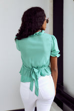 Load image into Gallery viewer, SALE - Evelyn Ruffled Tie Detail Blouse