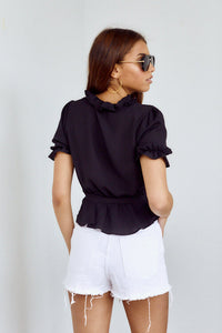 SALE - Evelyn Ruffled Tie Detail Blouse