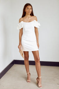 SALE - Veronica Ruffle Detail Mini Dress