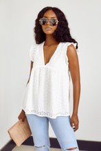 Load image into Gallery viewer, SALE - Livy Eyelet Ruffle Top