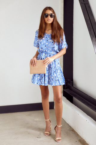 Ember Printed Tiered Mini Dress