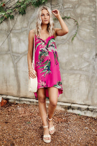 Livia Tropical Print Mini Dress