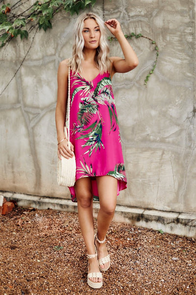 fab'rik - Livia Tropical Print Mini Dress image thumbnail