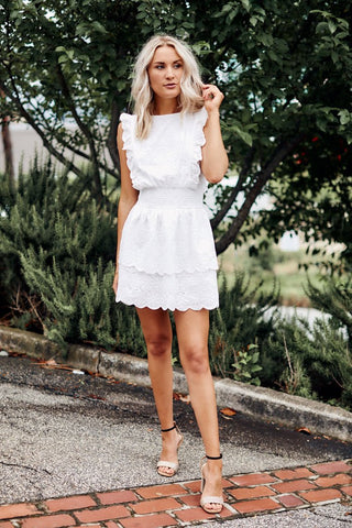 PreOrder Amanda Eyelet Mini Dress