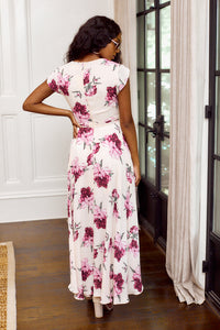 Layne Floral Print Wrap Maxi Dress